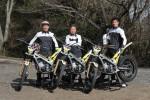 チームTRS。左は全日本に復帰する小林直樹選手。中はエトスデザイン社長の近藤博志さん、右はIAS藤原慎也選手。