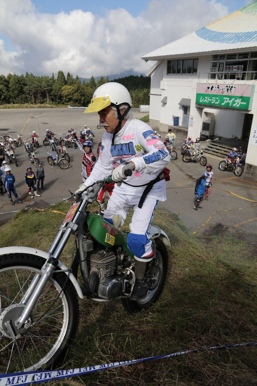 山本隆選手と幻のワークスマシン、カワサキKT330。そして山本選手の2連覇。